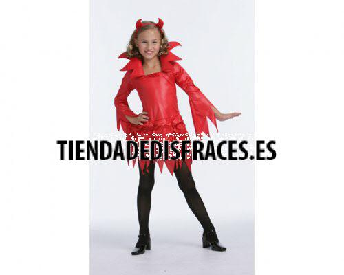 Disfraz de Diablesa 4-6 años.