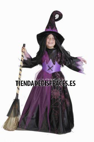 Disfraz de Bruja Araña infantil talla 3-5, talla 1