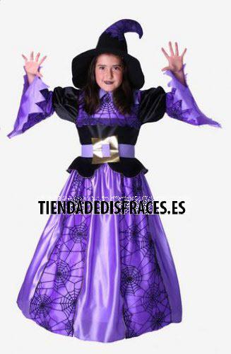 Disfraz de Bruja Lila infantil talla 3-5 años, talla 1