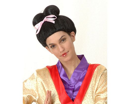 Pv peluca geisha , mujer