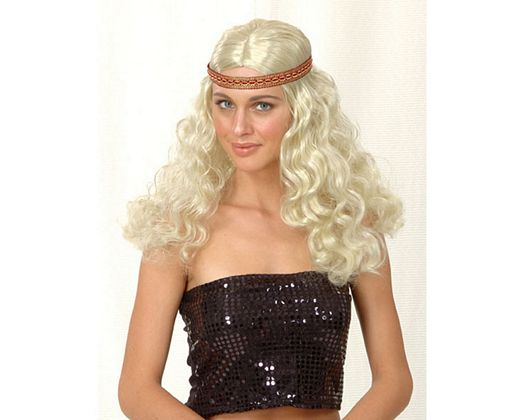 Pv peluca hippie rubia, mujer