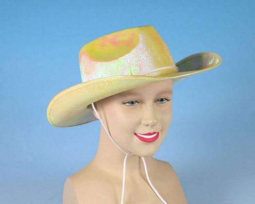 Sombrero cowboy amarillo tornasolado