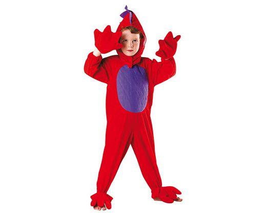 Disfraz de dragon rojo 5-6 años