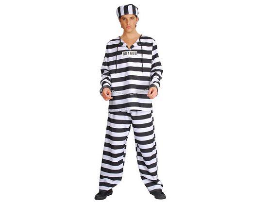Disfraz de preso, adulto