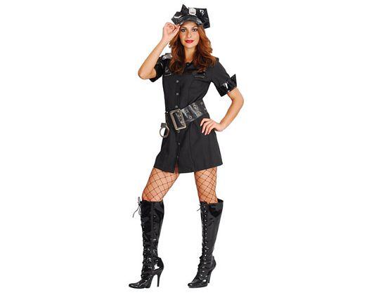 Disfraz de mujer policia, adulto