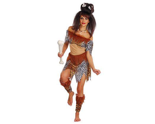 Disfraz de cavernicola, mujer, adulto