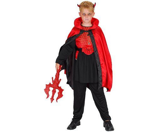 Disfraz de demonio rojo negro,4-6