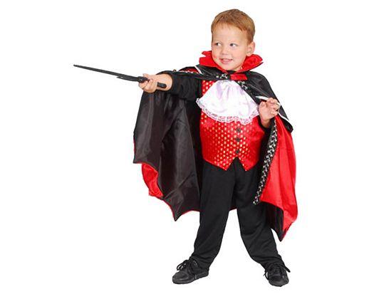 Disfraz de vampiro rojo negro, 3-4