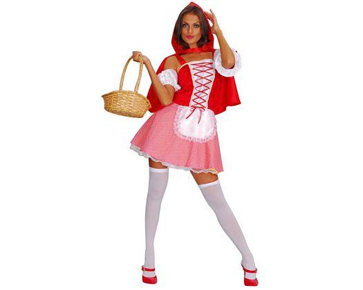 Disfraz de caperuza roja, sexy, adulto
