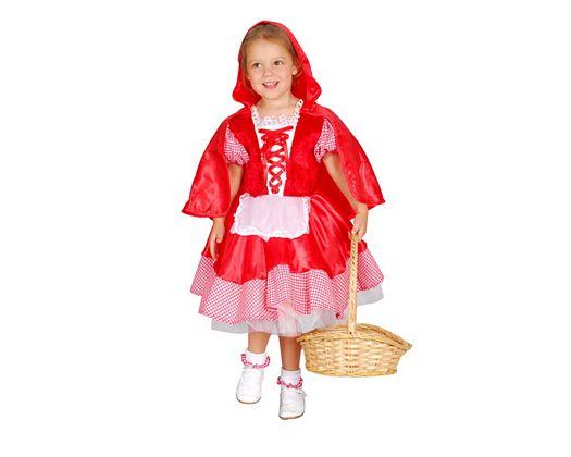 Disfraz de caperuza roja, 3-4 años