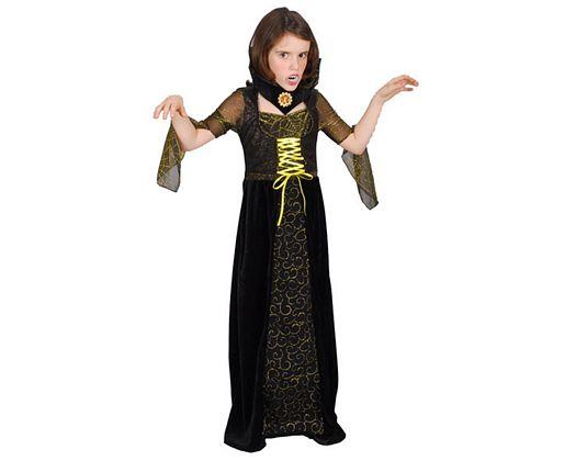 Disfraz de vampira de lujo, Talla 2 (5 – 6 años)