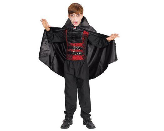 Disfraz de vampiro lujo rojo negro, 4-6