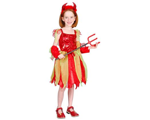 Disfraz de demonia de lujo, 5-6 años
