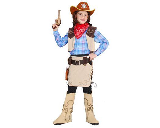 Disfraz de vaquera de lujo, Talla 3 (7 – 9 años)