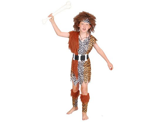 Disfraz de cavernicola, niÑo 7-9