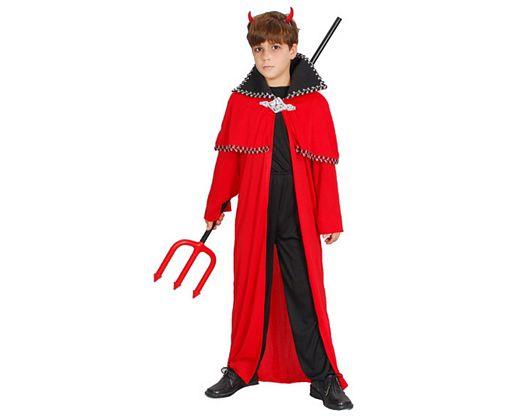 Disfraz demonio rojo negro, Talla 2 (5 – 6 años)