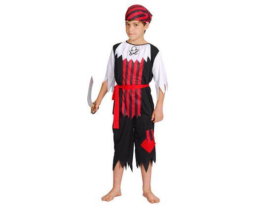 Disfraz de pirata calavera, 5-6 años