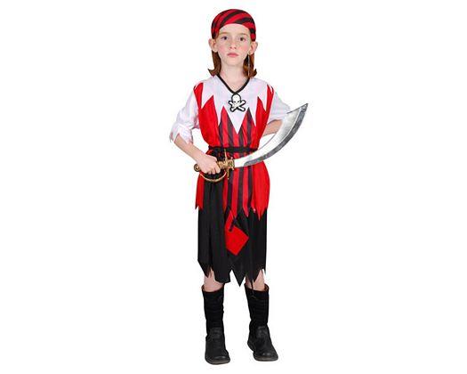 Disfraz de pirata calavera niña, 10-12 años