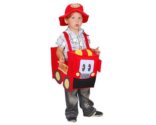 Disfraz de camion de bomberos, 5-6 años