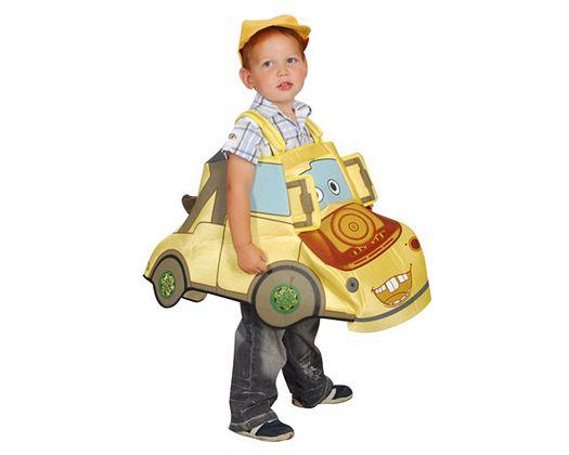 Disfraz de cochecito amarillo, 5-6 años