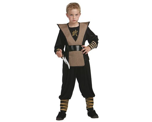 Disfraz de ninja marron, 7-9 años