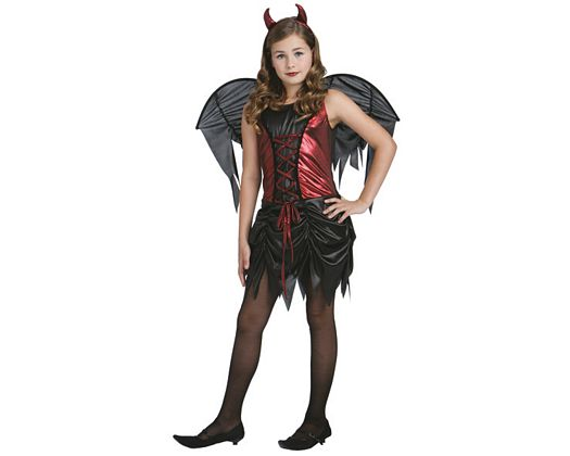 Disfraz de demonia rojo negro, 7-9