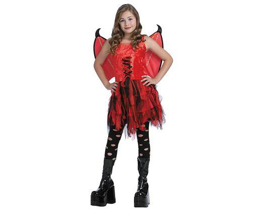 Disfraz de hada mala escarlata, Talla 2 (5 – 6 años)