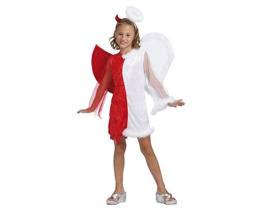 Disfraz de demonio vs angel, Talla 2 (5 – 6 años)