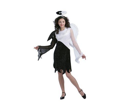 Disfraz de angel blanco y negro, Talla 2 (M-L)