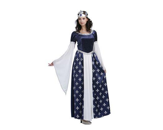 Disfraz de reina azul, adulto