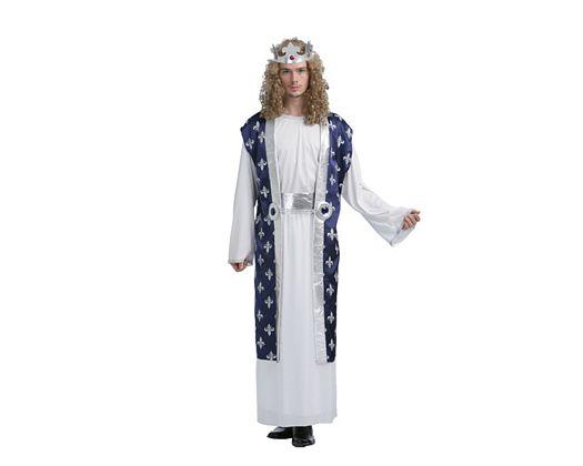 Disfraz de rey azul, adulto