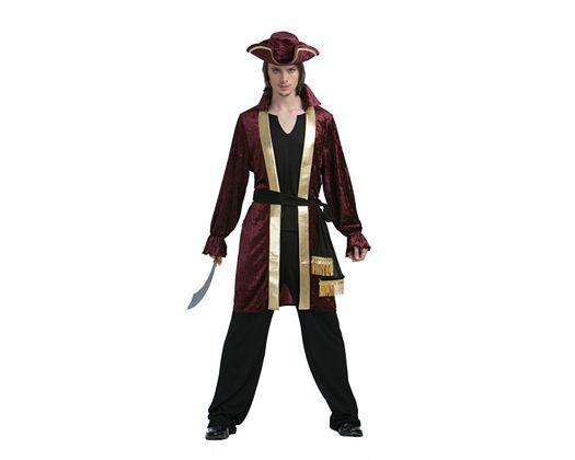 Disfraz de capitan pirata lujo, adulto