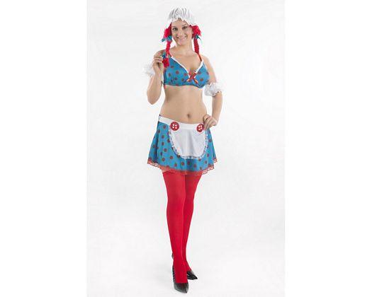 Disfraz de muñeca de trapo super sexy, Talla 2 (M-L)