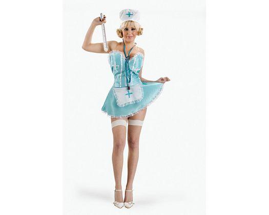 Disfraz de enfermera verde sexy, Talla 2 (M-L)