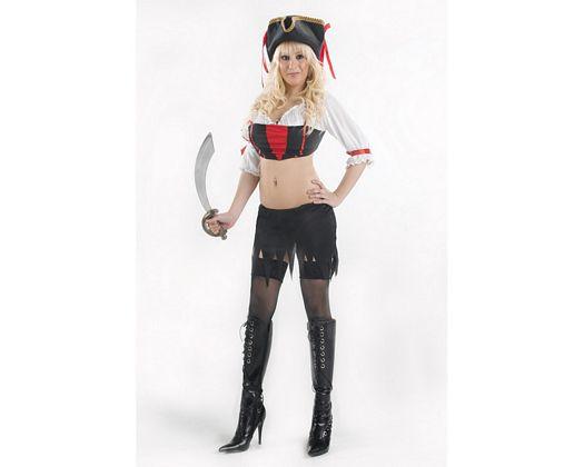 Disfraz de pirata sexy, Talla 2 (M-L)