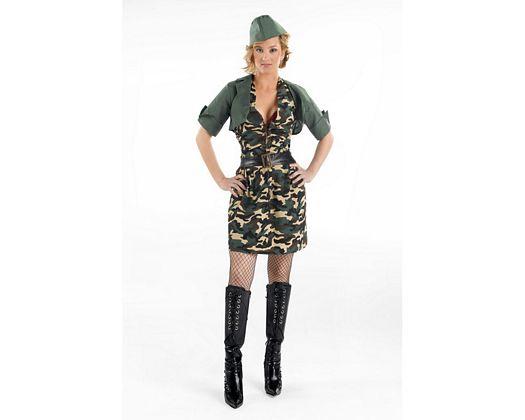 Disfraz de mujer soldado Talla 2 (M-L)