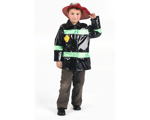Disfraz de bombero negro, Talla 3 (7 – 9 años)