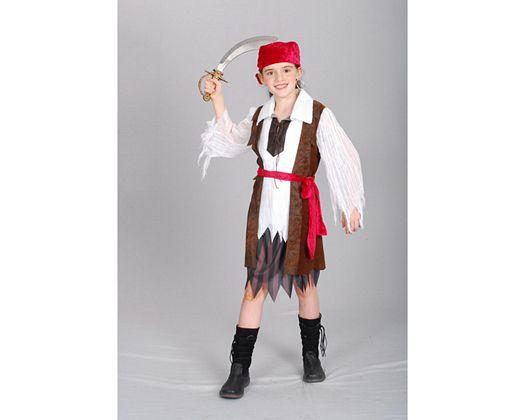 Disfraz de pirata caribeña, Talla 2 (5 – 6 años)
