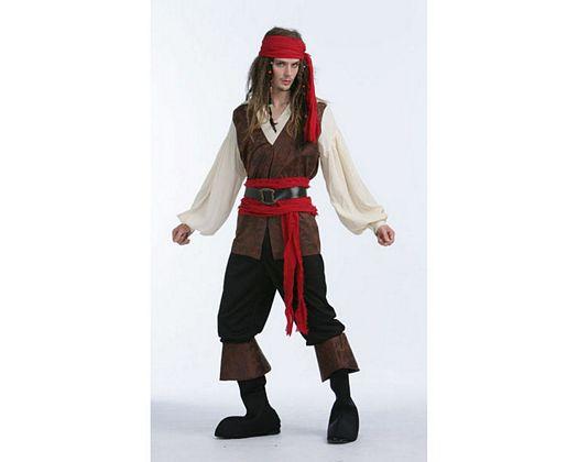 Disfraz de pirata caribeño, adulto