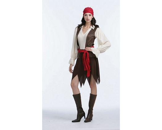 Disfraz de pirata caribeña, adulto