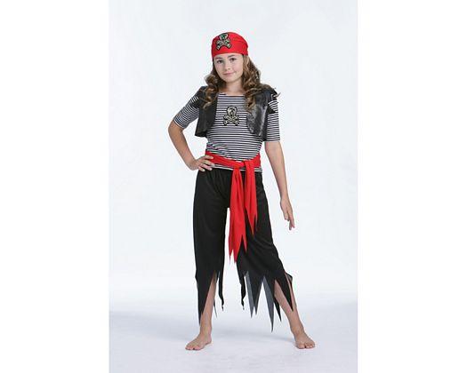 Disfraz de chica pirata calavera, Talla 2 (5 – 6 años)