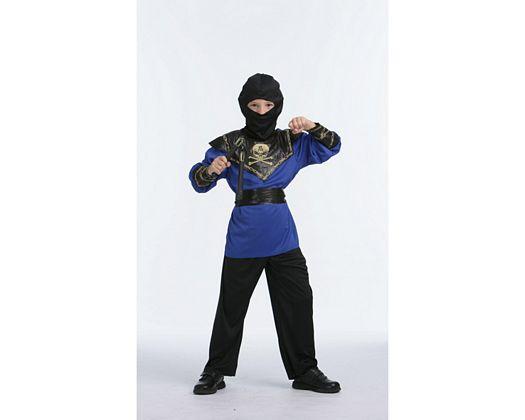 Disfraz de ninja calavera azul, 7-9