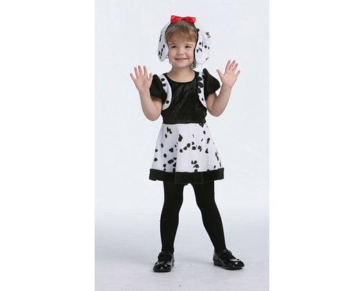 Disfraz de dalmata, niña 3-4 años