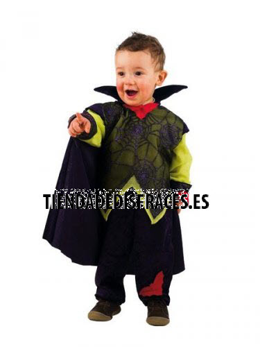 Disfraz de Vampiro Telerañas bebé deluxe 1 año