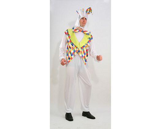 Disfraz de conejo multicolor, Talla 2 (M-L)