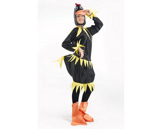 Disfraz de patita negro, mujer