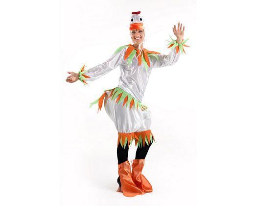 Disfraz de patita blanco, mujer