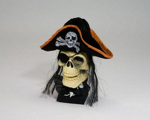 Calavera pirata parche luz y son 32c