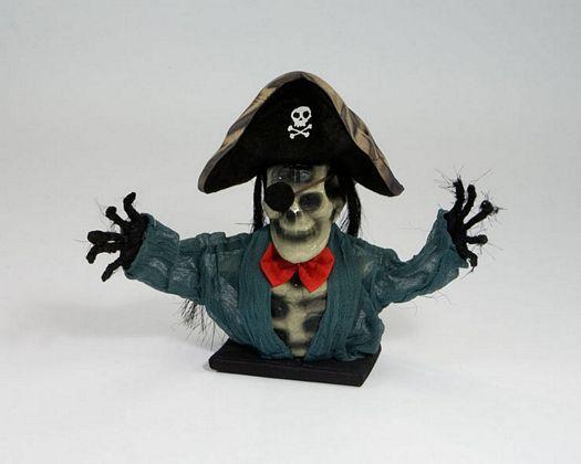 Esqueleto pirata sentado 33cm