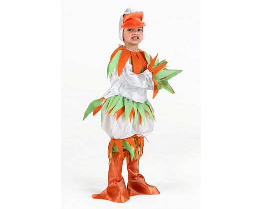 Disfraz de pato blanco, niÑo 5-6
